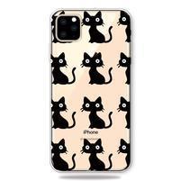 Patty gélový obal na mobil Apple iPhone 11 Pro 5.8 (2019) - čierne mačky