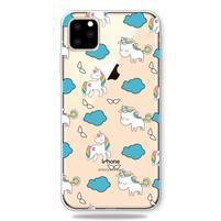 Patty gélový obal na mobil Apple iPhone 11 Pro 5.8 (2019) - jednorožce a mráčky