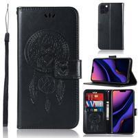 Dream PU kožené peněženkové puzdro na mobil Apple iPhone 11 Pro 5.8 (2019) - čierne