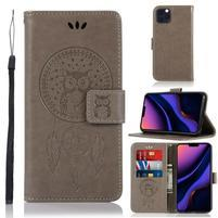 Dream PU kožené peněženkové puzdro na mobil Apple iPhone 11 Pro 5.8 (2019) - šedé