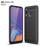 Carbon gélový obal na mobil Samsung Galaxy A30 / A20 - čierny