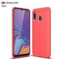 Carbon gélový obal na mobil Samsung Galaxy A30 / A20 - červený
