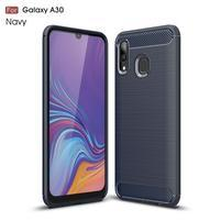 Carbon gélový obal na mobil Samsung Galaxy A30 / A20 - modrý