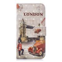 Light PU kožené peněženkové puzdro na mobil Samsung Galaxy A20 / A30 - vežový most v Londýne