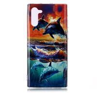 Patte gélový obal na mobil Samsung Galaxy Note 10 - delfín