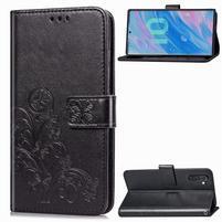 Imprinted PU kožené peněženkové puzdro na mobil Samsung Galaxy Note 10 - čierny