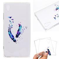 Pattern gélový obal na mobil Sony Xperia XA1 Plus - farebné perie