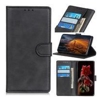 Matte PU kožené peněženkové puzdro na mobil Xiaomi Mi CC9 - čierne