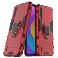 Kickstand odolný hybridný kryt na mobil Xiaomi Mi CC9 - červený