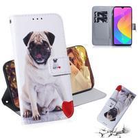 Printy PU kožené peněženkové puzdro na mobil Xiaomi Mi CC9 - pes a zviera