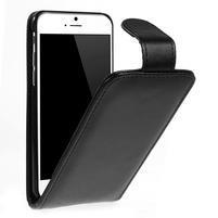 Kožené flipové puzdro pre iPhone 6, 4.7 - čierné