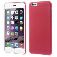 Ultra slim 0.3 mm plastové puzdro na iPhone 6, 4.7  - červené