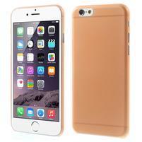 Ultra slim 0.3 mm plastové puzdro pre iPhone 6, 4.7  - oranžové