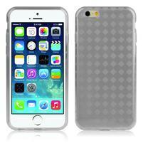 Gélové kostkované puzdro pre iPhone 6, 4.7 - sivé