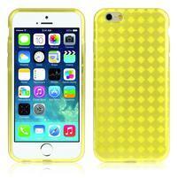 Gélové kostkované puzdro pre iPhone 6, 4.7 - žlté
