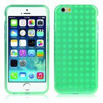Gélové kostkované puzdro pre iPhone 6, 4.7 - zelené