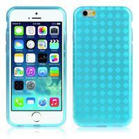 Gélové kostkované puzdro pre iPhone 6, 4.7 - modré