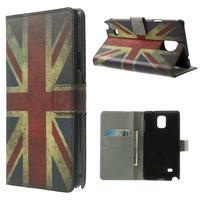 Peňaženkové puzdro na Samsung Galaxy Note 4- UK vlajka
