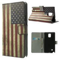 Peňaženkové puzdro na Samsung Galaxy Note 4- USA vlajka