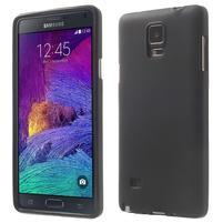 Gélové puzdro na Samsung Galaxy Note 4- čierné