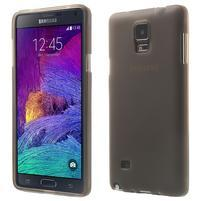 Gélové puzdro pre Samsung Galaxy Note 4- šedé