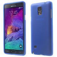 Gélové puzdro pre Samsung Galaxy Note 4- modré