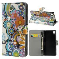Peňaženkové puzdro na Sony Xperia Z3 D6603 - farebné vzory