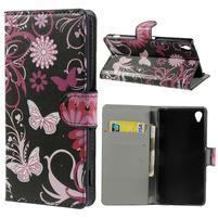 Peňaženkové puzdro na Sony Xperia Z3 D6603 - motýlí