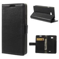 Peňaženkové puzdro pre LG L65 D280 - čierné