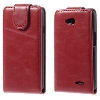 Flipové puzdro na LG L65 D280 - červené