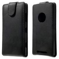 Flipové puzdro na Nokia Lumia 830 - čierné