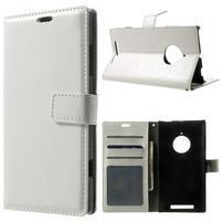 Peňaženkové puzdro na Nokia Lumia 830 - biele