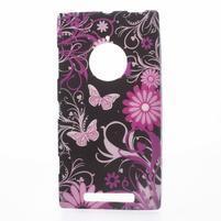 Gélové puzdro na Nokia Lumia 830 - motýľ a kvet
