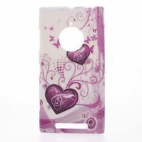 Gélové puzdro na Nokia Lumia 830 - dve srdce