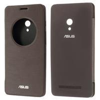 Flipové puzdro na Asus Zenfone 5 - coffee