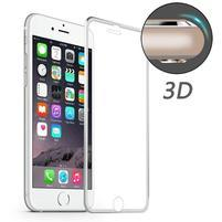Hat celopološné fixační tvrdené sklo s 3D rohy na iPhone 7 Plus a iPhone 8 Plus - strieborné