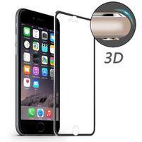 Hat celopološné fixačné tvrdené sklo s 3D rohy na iPhone 7 a iPhone 8 - čierne lemy