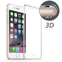 Hat celopološné fixačné tvrdené sklo s 3D rohy na iPhone 7 a iPhone 8 - ružovozlaté lemy
