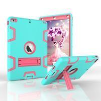 Hybridný odolný obal na iPad Air - cyan / rose