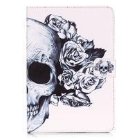 Emotive PU kožené puzdro na iPad Air - lebka