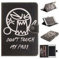 Patty klopové puzdro na iPad Air - naštvaný smajlík