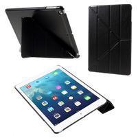 Origami PU kožené puzdro na iPad Air - čierne