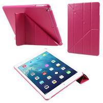 Origami PU kožené puzdro na iPad Air - rose