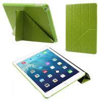 Origami PU kožené puzdro na iPad Air - zelené