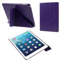 Origami PU kožené puzdro na iPad Air - fialové