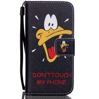 Motive PU kožené puzdro na iPhone 5C - duck