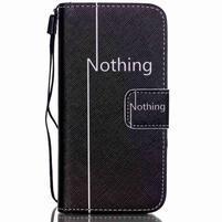 Motive PU kožené puzdro na iPhone 5C - nothing