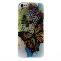 Bossi gélový obal na iPhone 5 / 5S / SE - maľovaný motýľ