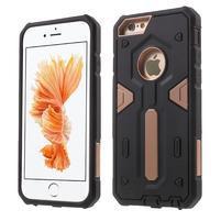 Shock odolný hybridný obal na iPhone 6 Plus a 6s Plus - Rosegold
