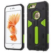 Shock odolný hybridný obal na iPhone 6 Plus a 6s Plus - zelený